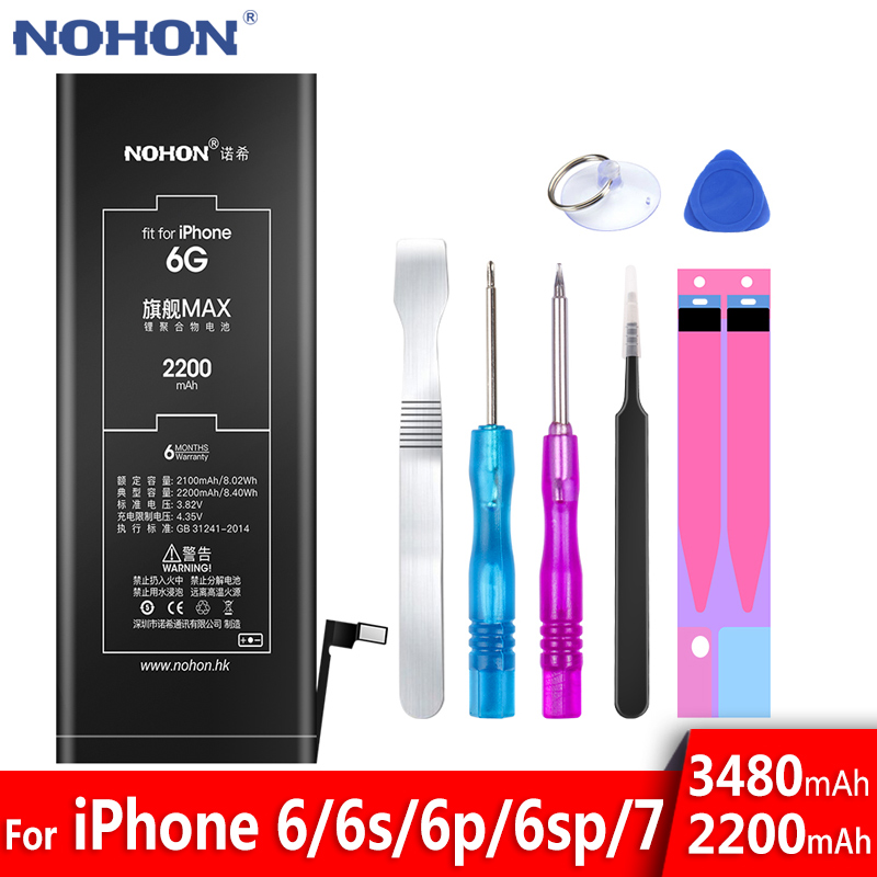 NOHON Phone-Battery Replacement 6plus High-Capacity 7-iPhone6 for 6splus/7-iphone6/High-capacity/Replacement