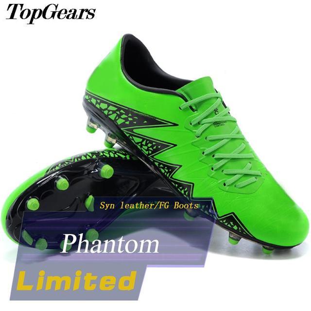 2015 New Phantom FG Boots Green Black Neymar Soccer shoes Men s Pro Football  Boots Water proof Breathable Soccer Cleats 4f0aeca64f8c0