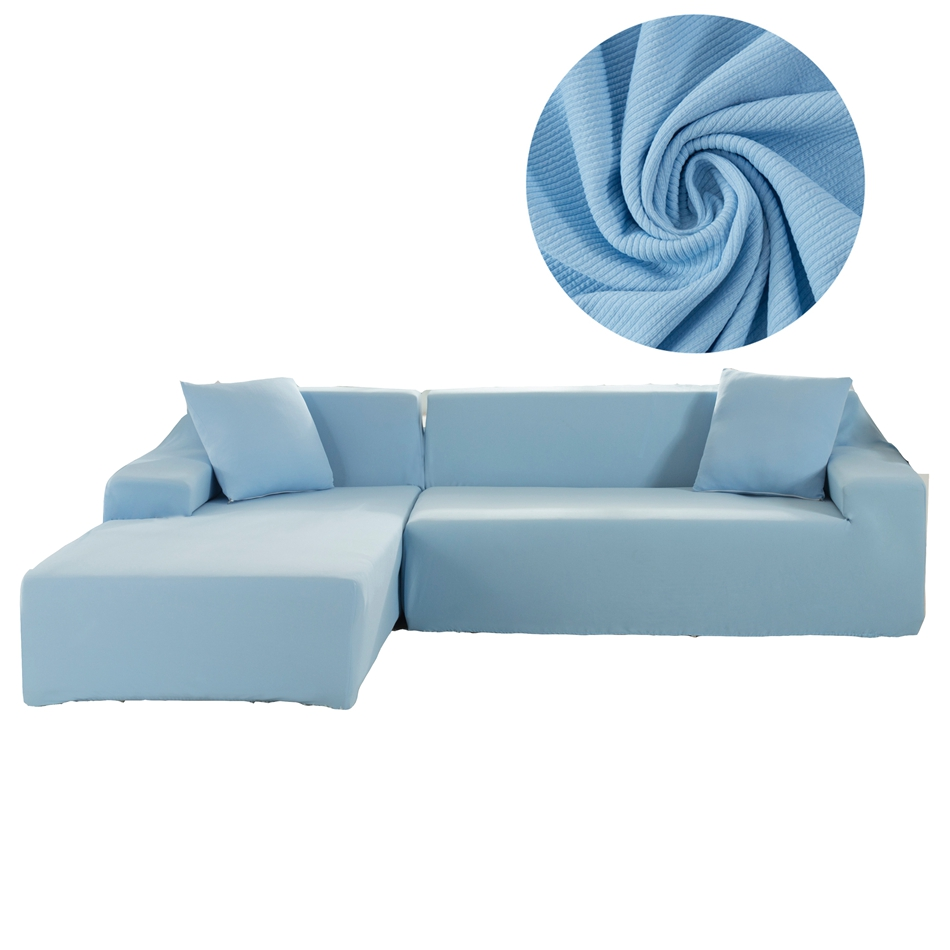 Admirable Us 69 3 58 Off Light Blue Universal L Shape Sofa Covers For Living Room Home Decoration Sectional Sofa Slipcovers 2Pcs Slipcovers For Sofa In Sofa Interior Design Ideas Clesiryabchikinfo