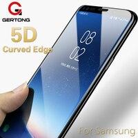5D borde curvo de vidrio templado para Samsung Galaxy A8 A6 2018 J7 J5 J3 A3 A5 A7 2017 J5 primer J7 Max Plus Protector de pantalla
