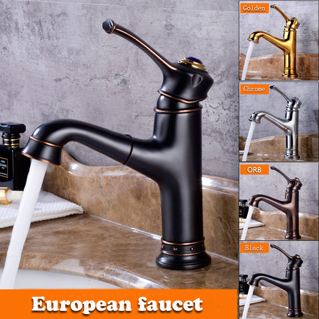 Modern Br Pull Out Laundry Faucet Basin Water Tap For Bathroom With Shower
