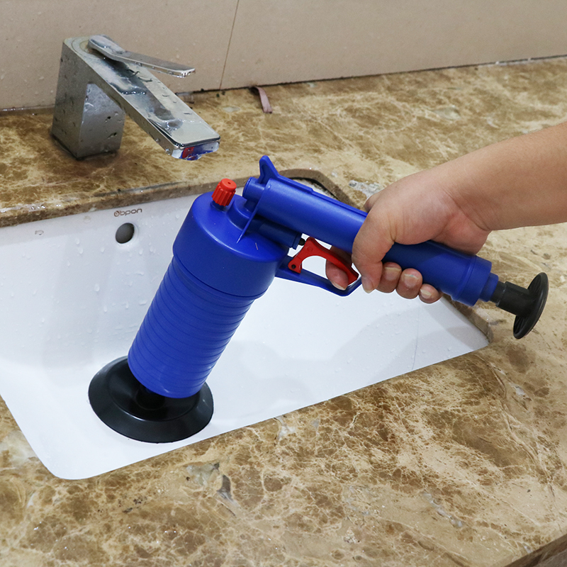 Toilets High Pressure Air Drain Blaster Cleaner ABS Plastic Drain Cleaner Clogged Pipes and Drains W 4 Differents Size Adaptor