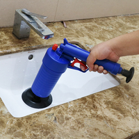 Toilets High Pressure Air Drain Blaster Cleaner ABS Plastic Drain Cleaner Clogged Pipes And Drains W