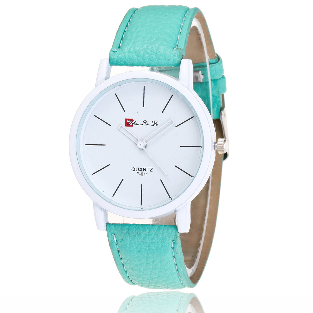 New Ladies Wrist Watch Luxury brand Time Pattern Leather Band Quartz Watch Fashion mint Green Watch women famous brand Feida developing chinese elementary listening course 2 2nd ed w mp3 learn chinese listening books