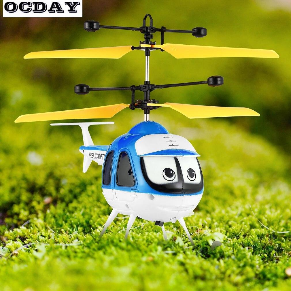 OCDAY Mise À Niveau Induction Vol Jouets Mini RC Hélicoptère Télécommande Avion Sans Pilote Pour Plat Enfant Jouets Jouets Flottants Garçon Cadeau