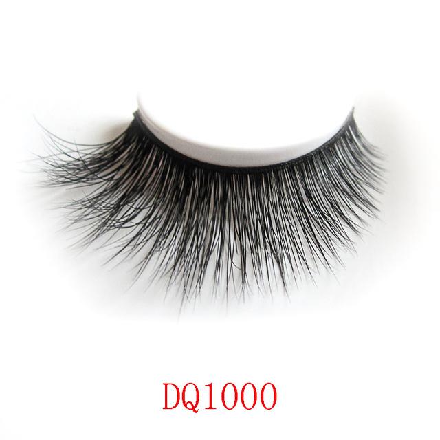 DQ1000 Preto 3D Grosso mink Cílios Postiços Cílios Maquiagem Natural Cílios Postiços Frete grátis