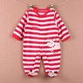 De inverno de alta qualidade meninos Macacão de Bebê meninas Roupas Pijama de Lã Bebê Recém-nascido Animal Macacões Infantis Meninos Roupas de Menina definido