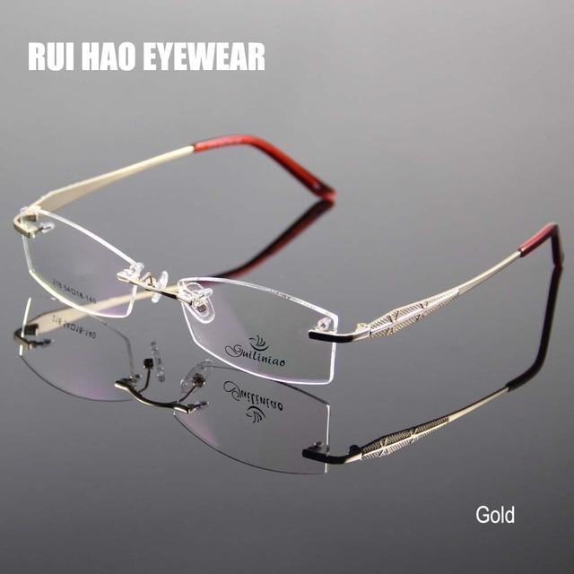 f15daabdecbc www.isefac-alternance.fr   Buy Rimless Glasses Frame Women Rectangle Eyewear  Frames