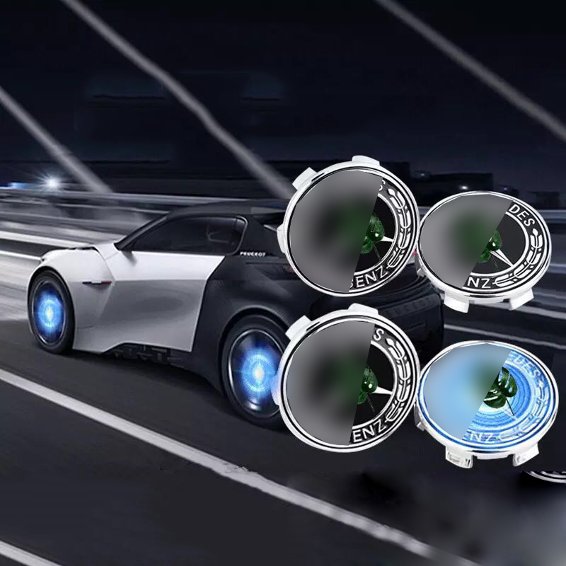 Image 2 - Hub Light 4X Car Wheel Caps Light Floating Illumination LED Light Center Cover Lighting Cap Auto Styling For Auto Car Accessorie-in Decorative Lamp from Automobiles & Motorcycles