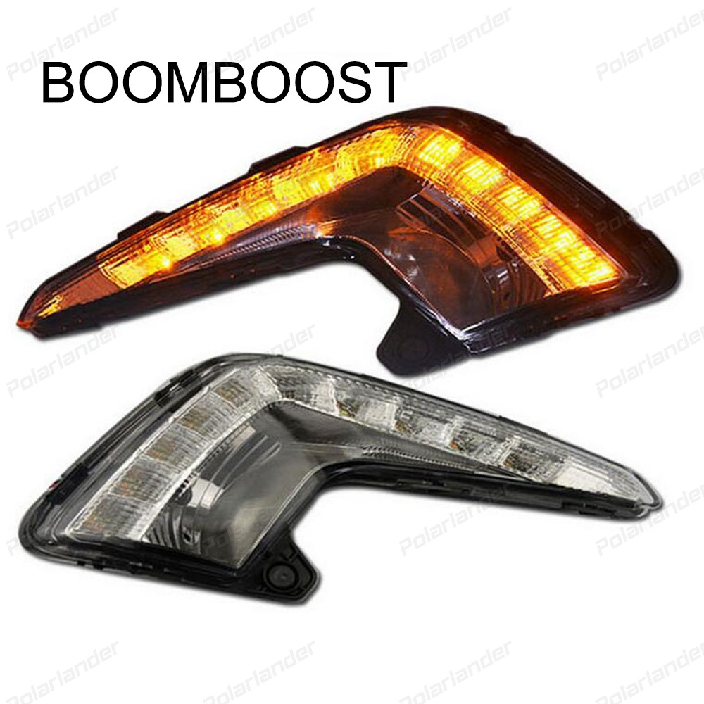 BOOMBOOST 2 pcs auto accessory For  Kia K2 RIO 2011-2013 daytime running lights car styling
