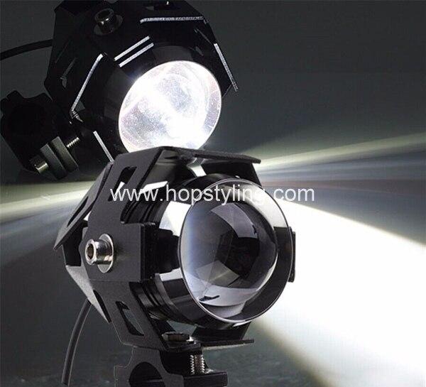 1 UNIDS CREE U5 Motocicleta Autobicicleta Faros LED A Prueba de agua de Alta Potencia Del Punto de Luz Lámpara Del Punto Con Función Estroboscópica led bombillas