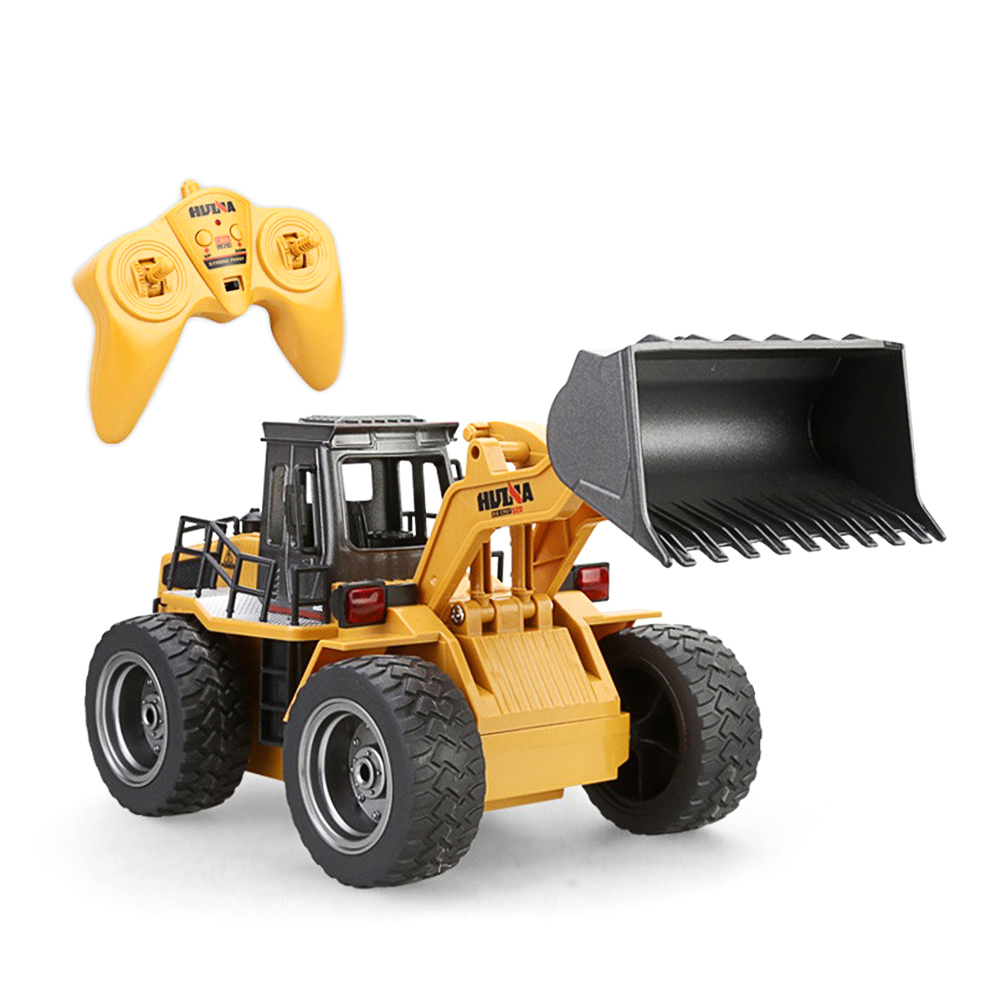 2.4G 6CH 1:18 RC Trucks Metal Bulldozer Charging RTR Remote Control Truck Construction Vehicle Cars Toy For Children