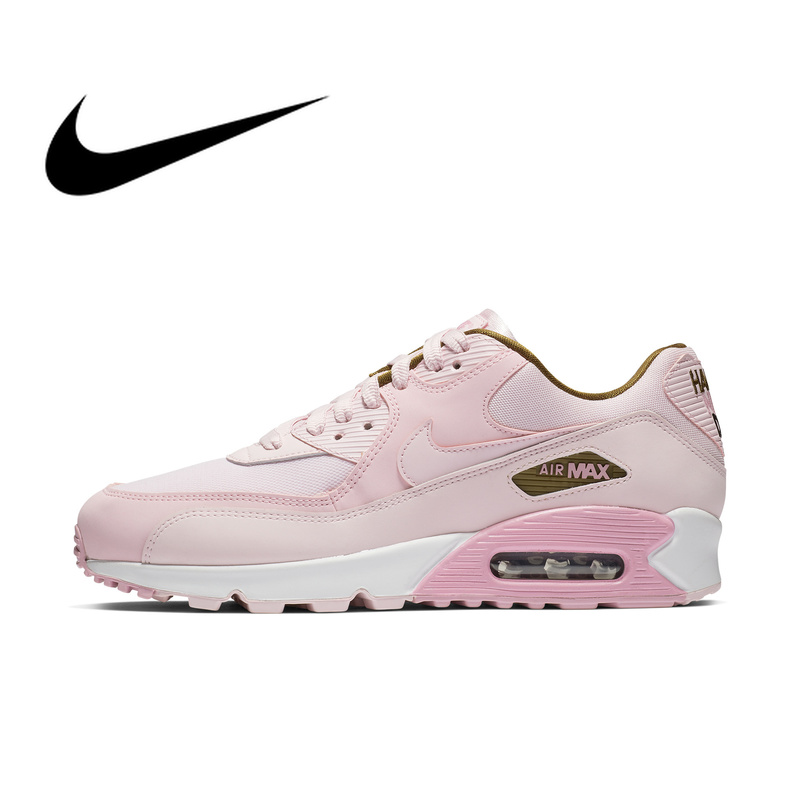 new style 3d05d 3755b Official Original NIKE Brand AIR MAX 90 SE Women s Sneakers Running Shoes  Lace-Up Breathable Max Air Massage Leisure Low 881105