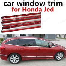 hot sell Car Styling Stainless Steel Car Sill Trim For Honda Jed Car Window Trim Without