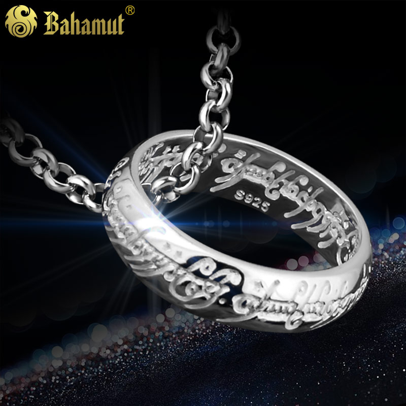 все цены на The Lord of the rings Quality Ring with Chain for Men Lotr Ring 925 Silver Ring Women Man Couples Engraved Gift Cosplay Jewelry