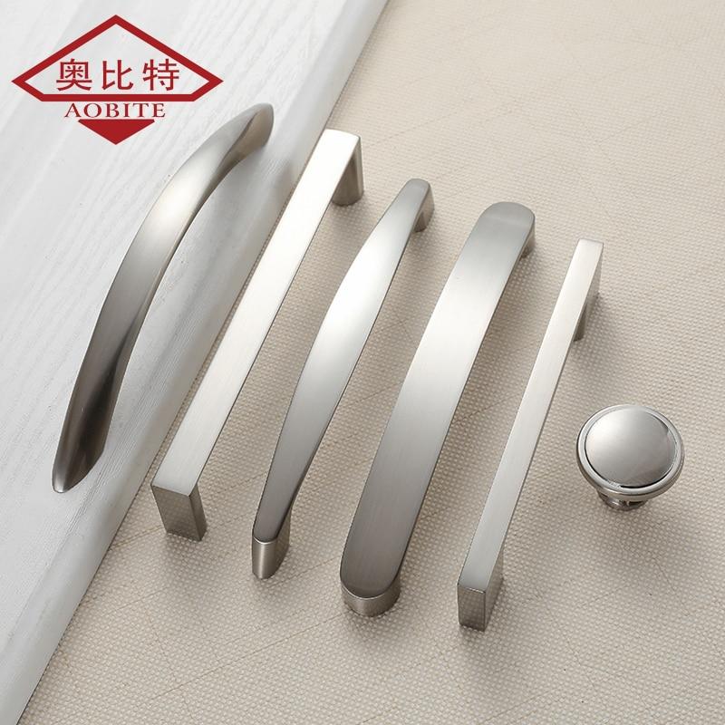 Фотообои AOBT для кухни, искусственный никель, 96 мм, 128 мм, 160 дюйма, для шкафов, выдвижных ящиков, алюминиевый сплав 773