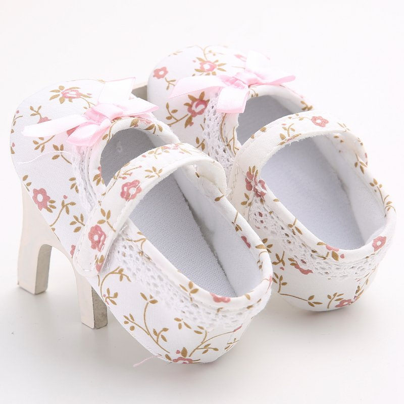 Newborn Baby Girls Princess Shoes Mary Jane Ballet Dress First Walkers Crib Babe Floral Soft Soled Anti-Slip Shoes