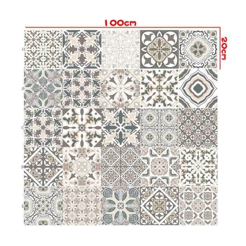 Bahasa Portuges A Retro Strip Ubin Keramik Stiker Dinding Dapur Kamar Mandi Lemari Seni Lukisan Dinding Dekorasi Rumah Peel & Stick Dinding