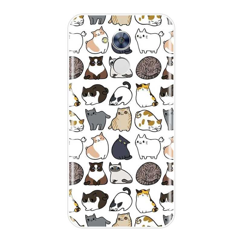 Unicórnio bonito Caixa Do Telefone Para Huawei Honra 4C 5C 6C 6A Pro Silicone Case Capa Soft Para Honra 6 5A 4X 5X 6X 6A 4C 5C 6C Pro Caso