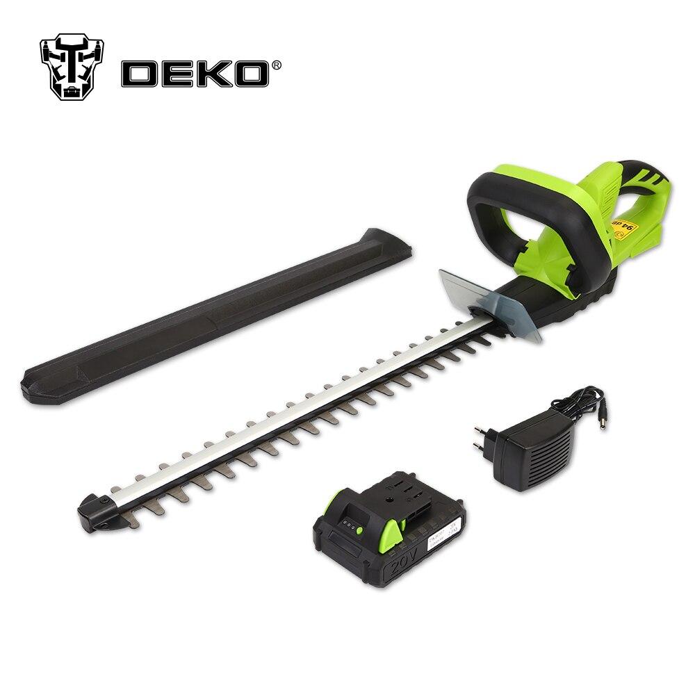 DEKO 20 V Lithium 1500 mAh sans fil taille-haie Charge rapide Rechargeable tondeuse électrique élagage scie avec double lame/scie