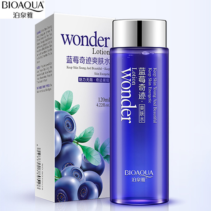 BIOAQUA 120ml Blueberry Facial Toner Water Enriched Nourishing Face Care Nutrition Hydrating Moisturizing Whitening Tonic Liquid 18v 6000mah rechargeable battery built in sony 18650 vtc6 li ion batteries replacement power tool battery for makita bl1860