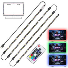 IP20/IP65 Flexible Strip Light USB LED 5050 SMD RGB+White With RF Remote Controller RGBW TV Background Lightgting