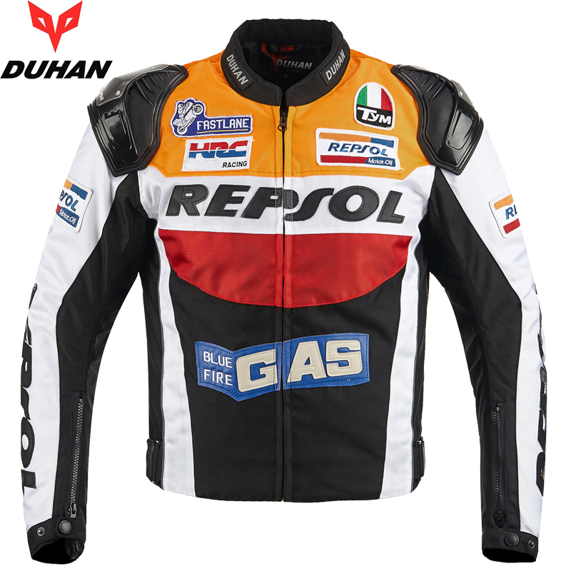 2019 NEW Motorcycle racing jacket Detachable lining jacket and motocross aluminum shoulder armor CE protective gear clothing-in Jackets from Automobiles & Motorcycles