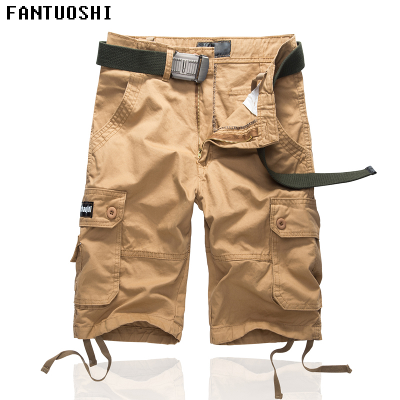 2018 New Mens Shorts summer camouflage cargo shorts men 100%Cotton Casual Men Short Pants High quality and comfortable shorts