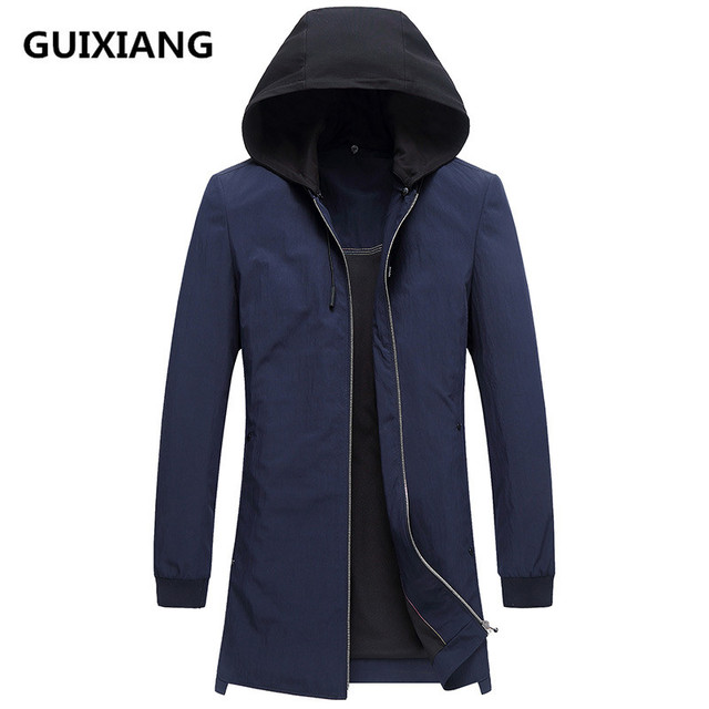 cbaf6b0ac16 2018 spring new style jacket Men s casual fashion Hat Detachable trench  coat Men business coats men windbreaker jackets