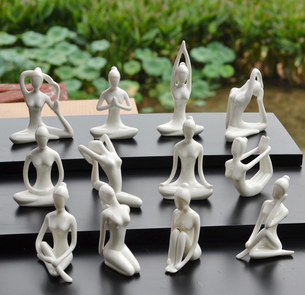 Namizje Enostavno domača dvorana za jogo dekorativne keramične - Dekor za dom