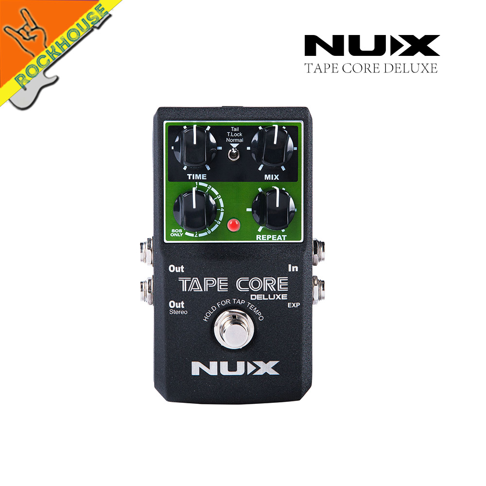 NUX Tape Core Deluxe Echo Delay Guitar Effect Pedal delay effects guitarra stompbox Digital Delay True Bypass free shipping nux mg 20 electric guitar multi effects pedal guitarra modeling processor with drum machine eu plug