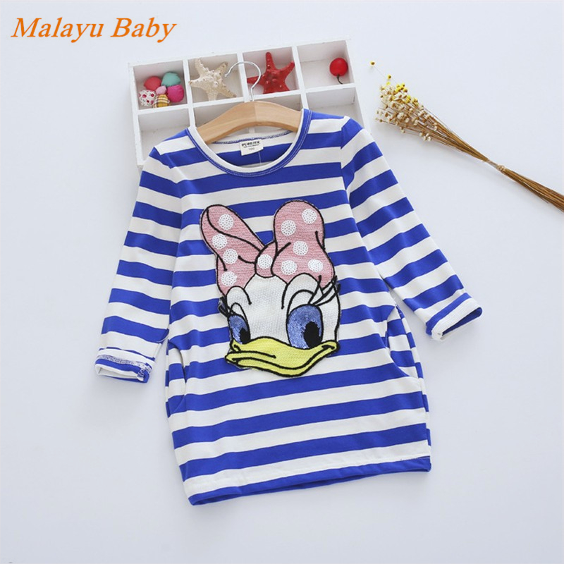 Malayu Baby Summer Girls Dress 2017 Cartoon Kids Dresses For Girl Clothes Children Vestidos Costume Roupas Infantis Menina 2-7Y 2016 new girls clothes brand baby costume cotton kids dresses for girls striped girl clothing 2 10 year children dress vestidos