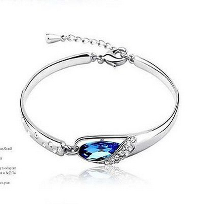 2018 Women Bracelet Blue Crystal Bracelets