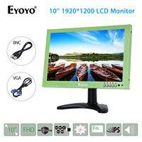 EYOYO 1920x1200 IPS Display 10 LCD Screen VGA BNC USB Video Audio HDMI Monitor Speaker For