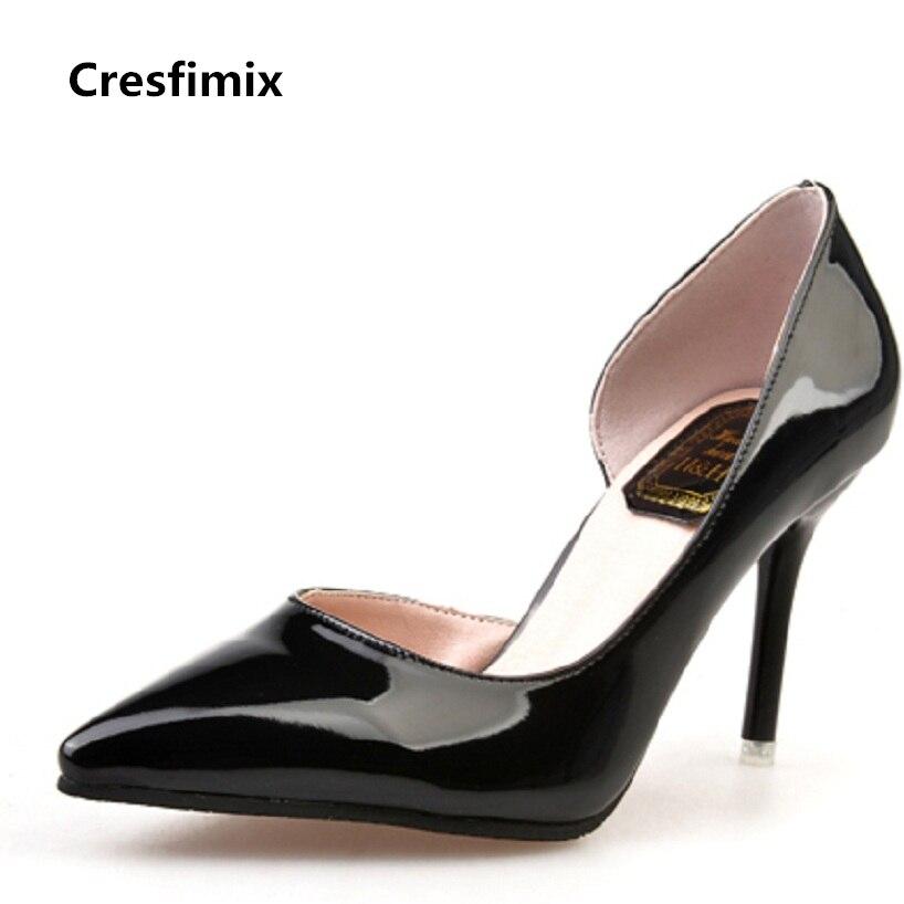 Cresfimix women fashion 8.5cm spike high heel shoes female spring & summer slip on high heel shoes sapatos femininos sexy pumps cresfimix women fashion spring