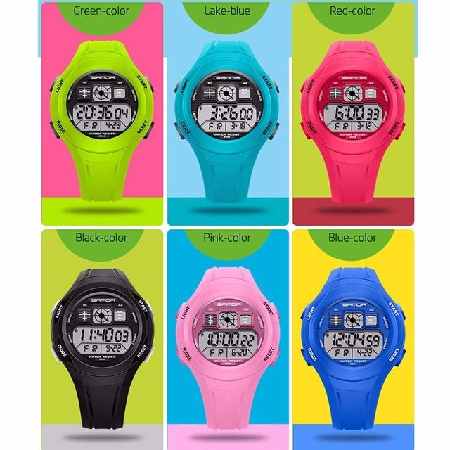 SANDA Children's Watch Digital LED Waterproof Fashion Casual Sport Boys Girls Wa