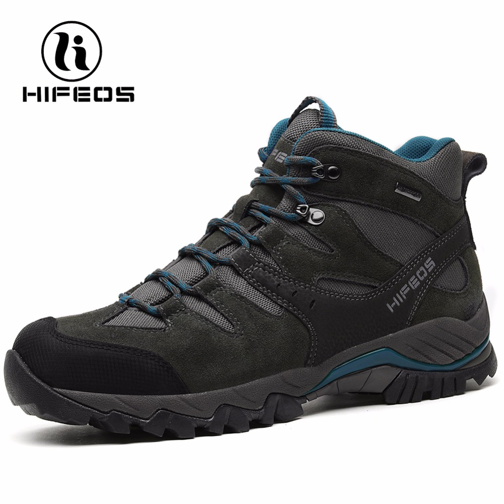 HIFEOS men's sneakers non-slip athletic breathable camping shoes outdoor sports waterproof climbing tactical hiking boots M02C winter men s outdoor cotton warm sports hiking shoes sneakes men anti slip climbing athletic shoes camping chaussures trekking