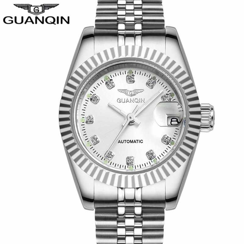 Ladies watch brand GUANQIN automatic Diamond Waterproof sapphire women watches diamond fashion watches ladies wrist watch все цены