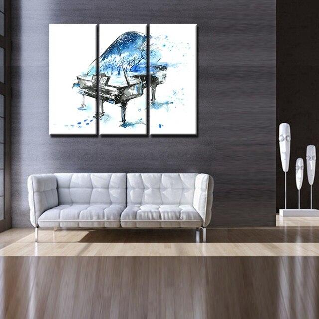 Blues Pianoforte nella Neve Eleganza Artisticamente Pittura HD ...