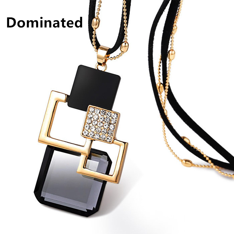 Dominated Women Fashion Accessories Sweater Chain Length All-match Crystal Pendant Necklace колесные диски replay h40 6 5x17 5x114 3 d64 1 et50 sf