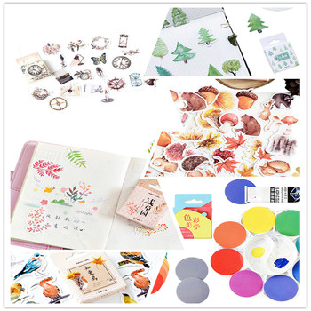 46pcs/box Cute Small forest robin Old chapter Label Stickers Mini  Stickers Diary Adhesive Scrapbooking Decorative DIY Stickers 46pcs 1pack stationery stickers forest fruit animals diary planner decorative mobile stickers scrapbooking diy craft stickers