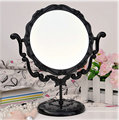 Área de Trabalho De maquiagem Rotativo Gótico Tamanho Pequeno Rosa Stand Espelho Compacto espelho Borboleta Preta DTZE #57700 de 9.8 polegadas