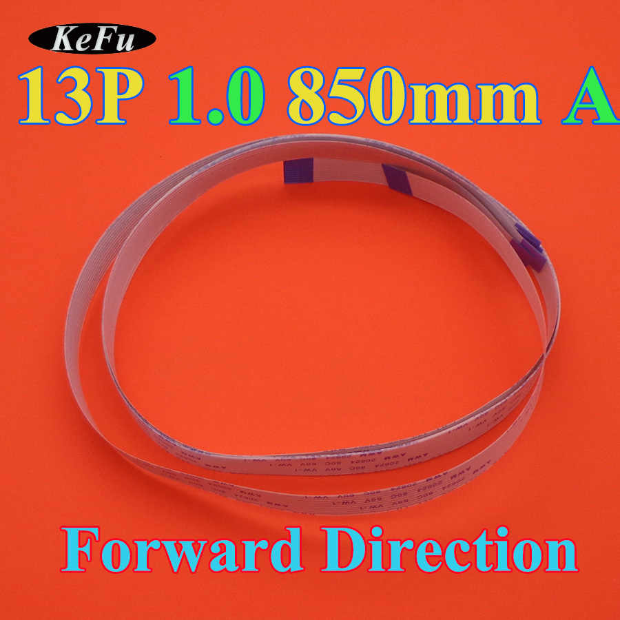 1-100pcs/lot  FFC FPC flat flexible cable type A 1.0mm pitch 13 pin forward Length 850mm 85cm Width 14mm Ribbon Flex 13pin