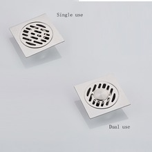 SmileMonkey Bathroom stainless steel drain plug with card position deodorant anti-drop self-sealing floor
