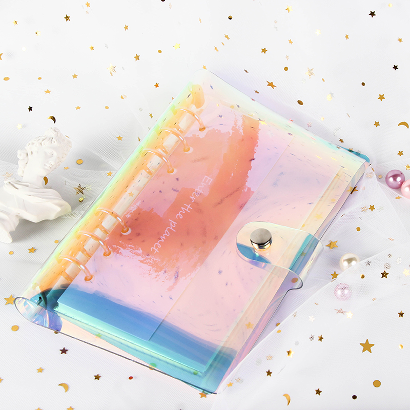 A5 A6 Laser transparent Notebook Planner Organizer Paper Planner Inner Page ring binder Diary Bullet Journal Notebook Wholesale 3