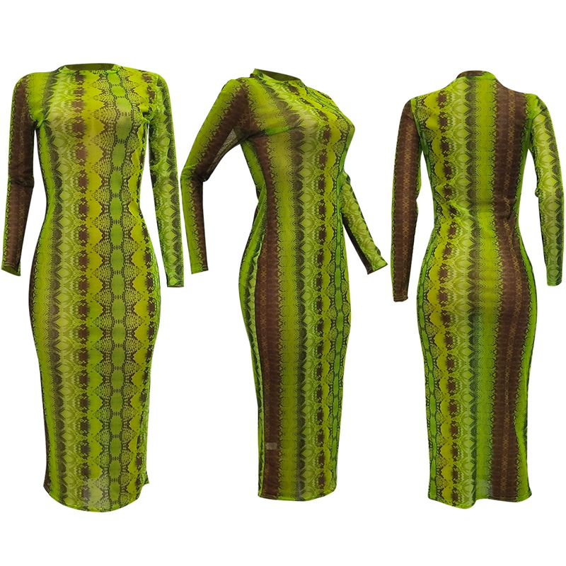 snake print dress -32