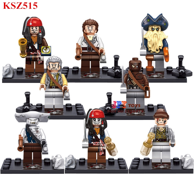 8pcs star wars super heroes avengers Pirates of the Caribbean Salazar Revenge building blocks bricks toys for children juguetes