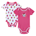 2016 Newly 2 PCS 0-12M Baby Girl BodySuits Cute Designed Baby Suit Baby Sleepsuit Jumpsuit Next Newborn Baby Clothes