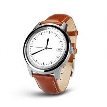PARAGON Voll Runde bildschirm Smartwatch M365 Echtem Leder Schlaf Monitor fitness android smart uhr v360 moto360 dz09u8 moto 360