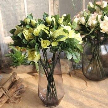10 Pcs ดอกไม้ Gardenia ประดิษฐ์ Gardenia Plant จัสมินในร่มพืชจำลองประดิษฐ์ดอกไม้สำหรับงานแต่งงานพรรคและบ้าน